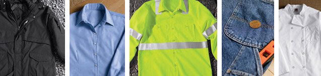 automotive, safety, industrial, and restaurant uniforms